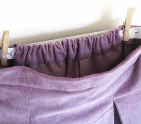 Как сделать частичную кулиску на брюках или на юбке. Пошив частичной кулиски на юбке или брюках.
