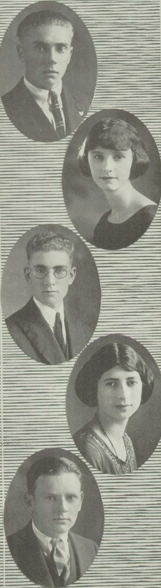 """1922 high school hairdos, from the """"Red & White"""" yearbook of Lowell High School in San Francisco, California.  #LowellHighSchool #SanFrancisco #California #RedAndWhite #yearbook #1922"""
