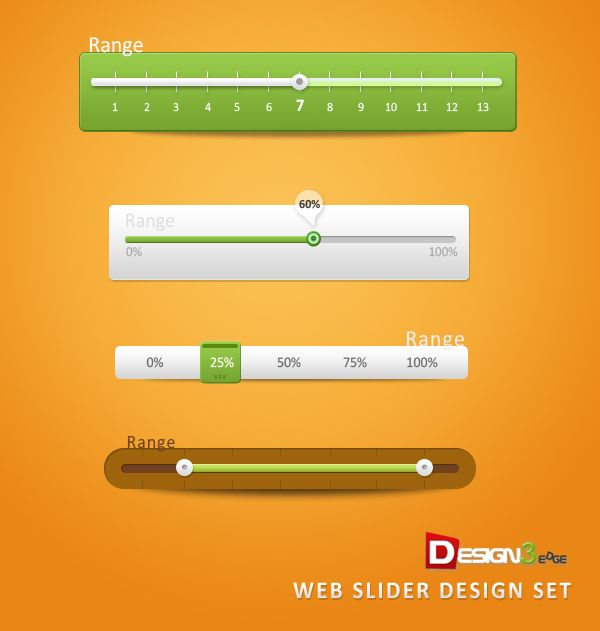 Free Web Slider Design Set