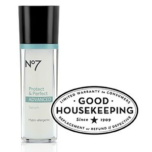 No7 Protect & Perfect Advanced Serum - Powerful prevention. Supercharge your skincare regime with this clinically proven serum*. No7's highly acclaimed Protect & Perfect technology has been re-engineered to deliver even better anti-aging results. Independently tested and proven to work....  #FrostyVoxBox @influenster #Influenster #BootsBeautyUSA
