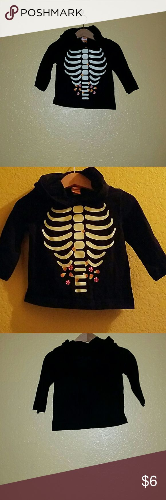 Halloween Hoodie For Boys. Nice hoodie in great condition. Great for cold Halloween night. IT GLOWS IN THE DARK. Shirts & Tops Sweatshirts & Hoodies