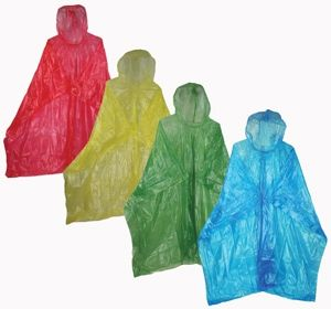 Adult Economy Disposable Rain Ponchos!  8 Colors to Choose From.  Red, yellow, green, blue, clear, white, pink and orange.  $0.55 #rainponchos #rain #rainwear  http://www.saraglove.com/Adult-Economy-Rain-Ponchos-p/14-276-p.htm?ID=596&yes=yes