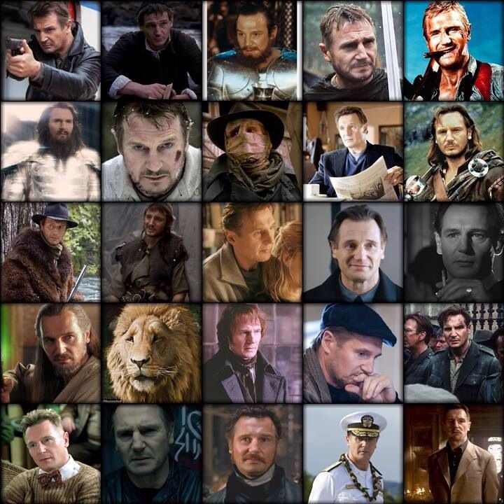 Taken, The Mission, Excalibur, Kingdom of Heaven, The A-Team. Wrath of the Titans, The Grey, Darkman, Chloe, Rob Roy. Seraphim Falls, The Next of Kin, Nell, Love Actually, Schindler's List. Star Wars, Chronicles of Narnia, Les Miserables, The Next 3 days, Michael Collins. Kinsey, Unknown, Breakfast on Pluto, Battleship, Batman Begins.