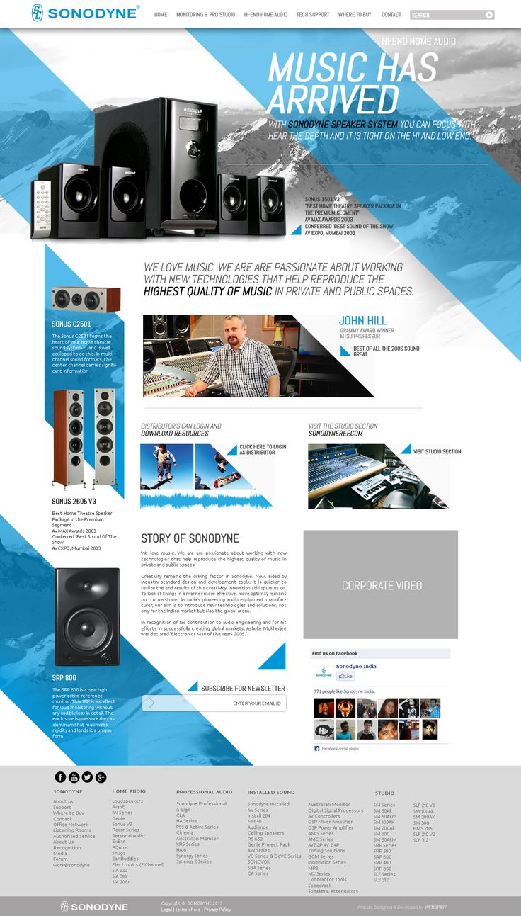 #sonodyne #corporate #website #concept