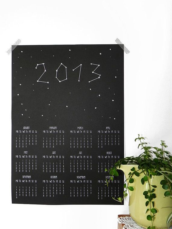 We're in love with this calendar even if the year's already two weeks old! #etsygermany