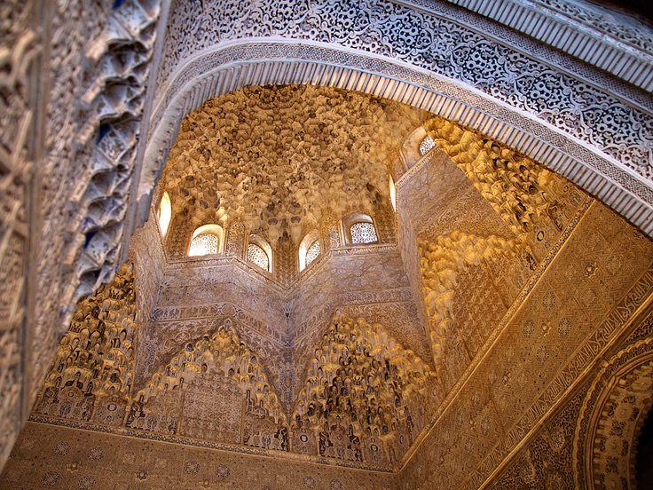 Dome in the Alhambra in Granada, Spain.