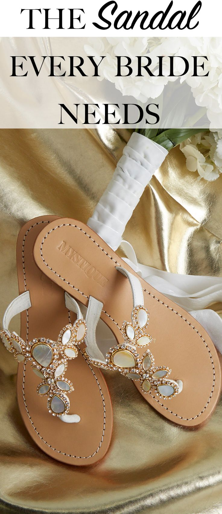 Every woman wants to be comfortable on their wedding day. Mystique sandals has over 100 styles for you! #wedding #giftideas #beautiful