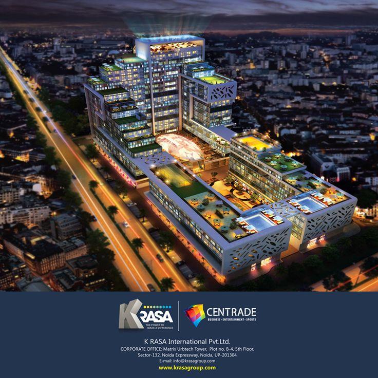 KRasa International Pvt. Ltd. | Centrade Business Park | Night View
