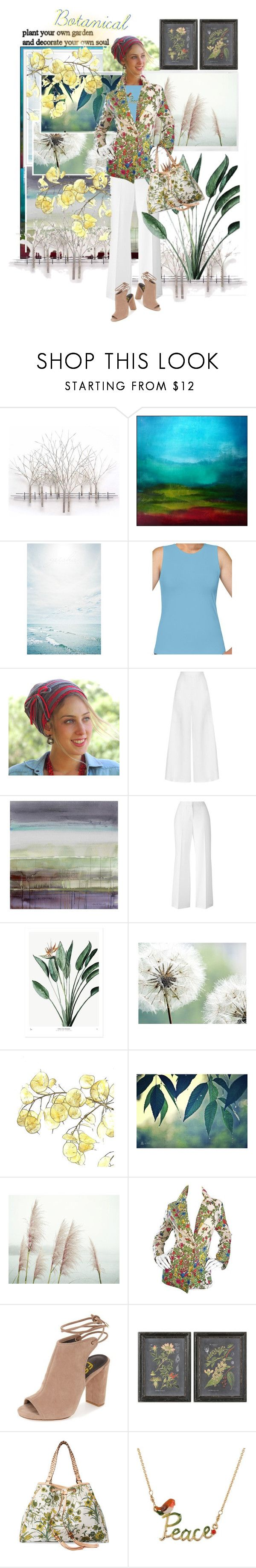 """""""Botanical🌿🍃"""" by tmcintyre ❤ liked on Polyvore featuring Home Decorators Collection, Kosher Casual, Miguelina, Ross & Brown, Uttermost, Gucci and Les Néréides"""