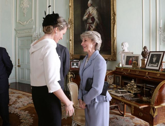 Queen Mathilde with Duchess of Gloschester