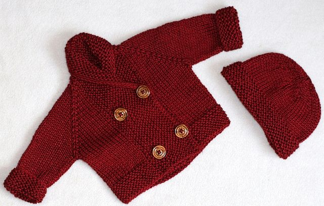cardigan and hat by Stolen Stitches, via Flickr