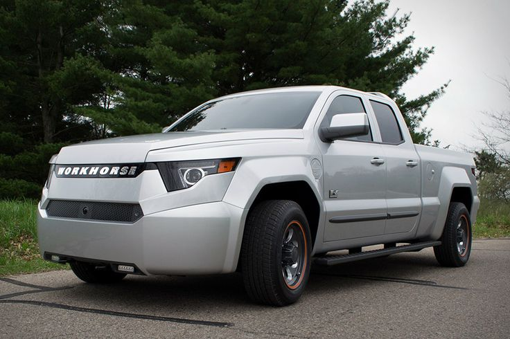 Built from the ground up as a plug-in with extended range, the Workhorse Electric Pickup Truck is an eco-friendly alternative to your average work vehicle. Its Panasonic-sourced lithium ion battery cells drive motors at each corner, resulting in 460 hp...