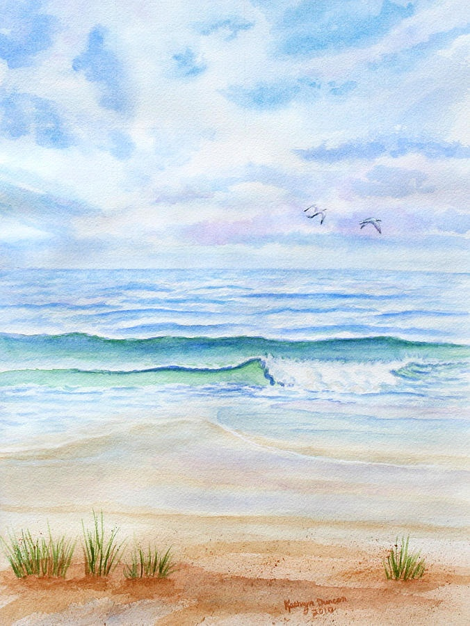 A Day At The Ocean Painting  Kathryn Duncan