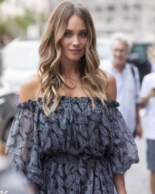 Hannah Davis. New York Fashion Week