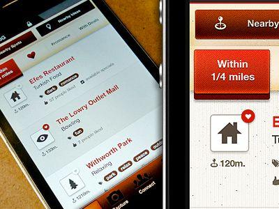 Dribbble - iPhone App UI by Oykun