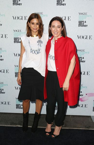 Christine Centenera Vogue Australia editor-in-chief Edwina McCann and Christine Centenera arrive for the launch of Vogue Fashion's Night Out at Hyde Park on September 5, 2013 in Sydney, Australia.