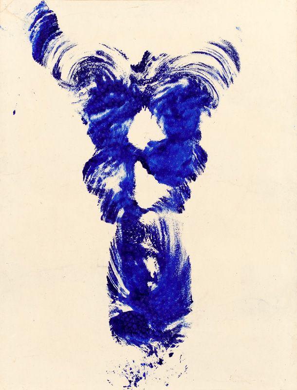 Yves Klein, untitled Anthropométrie (ANT 19), 1960, 65,5 x 50,5 cm