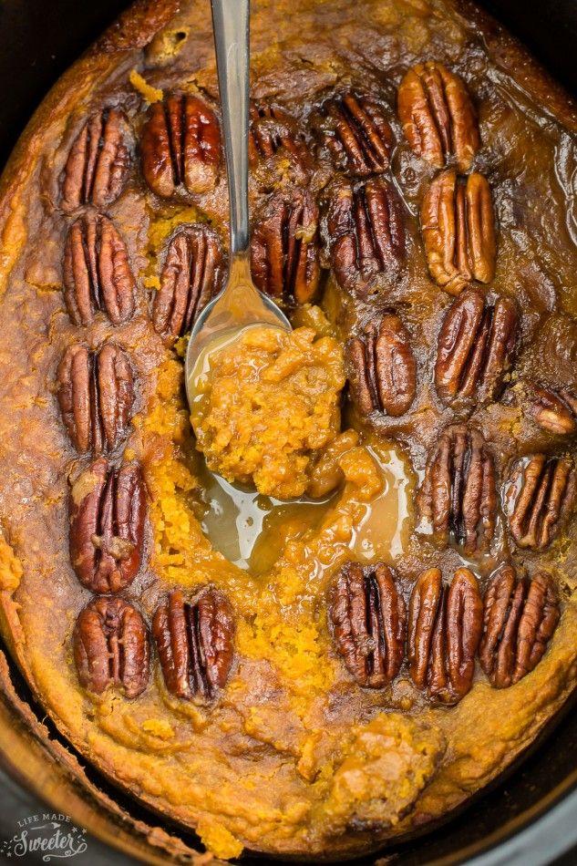 Slow Cooker Pumpkin Pecan Pudding Cake makes the perfect decadent dessert. Best…