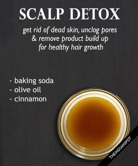 DIY scalp detox pre shampoo