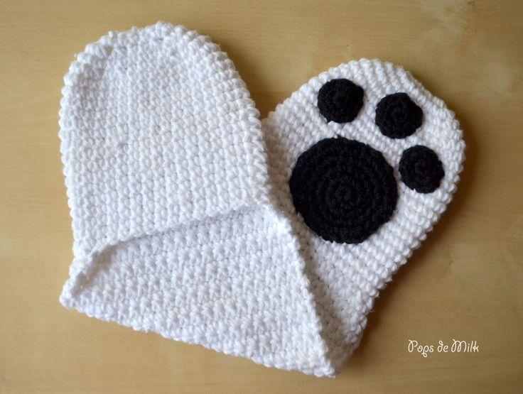Polar Bear Hot Paws Free pattern, Milk and Polar bears