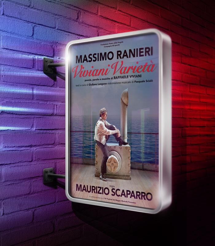 Poster spettacolo Viviani Varietà con Massimo Ranieri