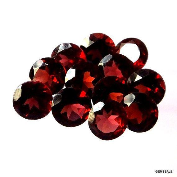 10 pcs Lot 6 mm RED GARNET Round Faceted gemstone by GEMSSALE