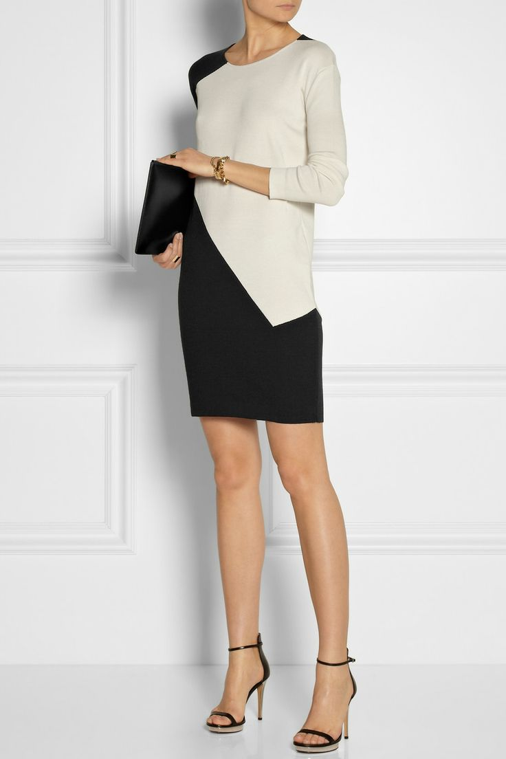 Calvin Klein Collection|Lyria silk and cotton-blend dress|NET-A-PORTER.COM