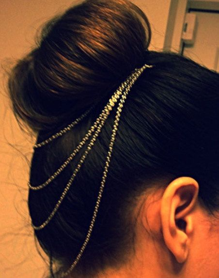 Layered Hair Chain Head Chain Ponytail by JewelryTutusBowsOhMy, $15.00