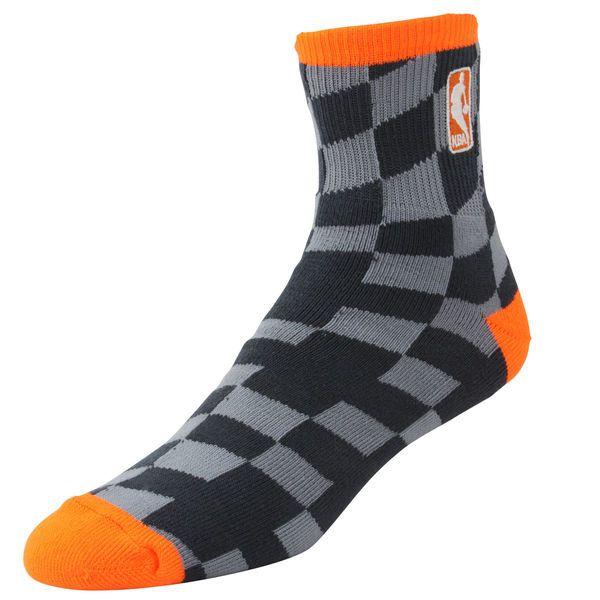 NBA Logo Champion Socks - Charcoal/Light Orange - $8.99