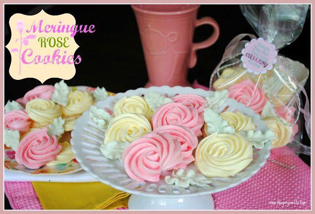 Meringue Roses @Aimee Shugarman (aka ShugarySweets)Meringue Cookies, Mothers Day, Teachers Appreciation, High Teas, Shugary Sweets, Gluten Free, Favorite Recipe, Vanilla Beans Cupcakes, Meringue Rose