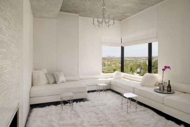 Dark Grey Walls With White Furniture Contemporary Living Room Design Minimalist Living Room Home