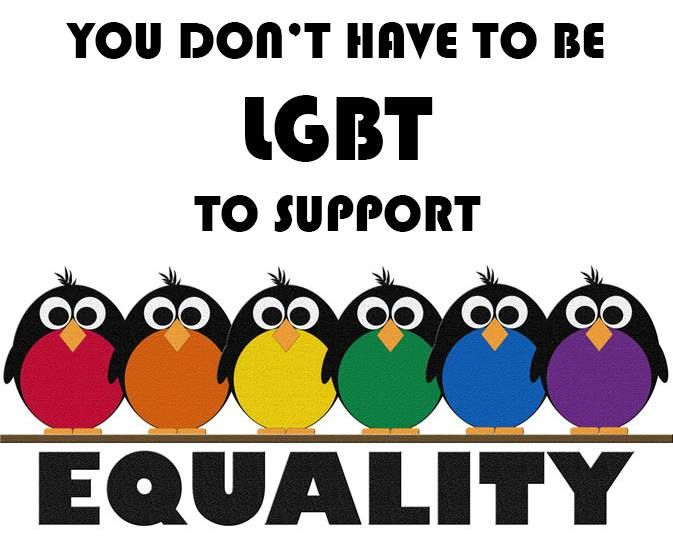 Support love and equal rights for everyone. I'm sorry to those of you that don't agree. I'm not gonna watch you post gay bashing on my boards. Consider yourself deleted