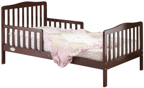 $69.99-$59.99 Baby Orbelle 3-6T Toddler Bed, Cherry - Orbelle Toddler Bed CherryThe Orbelle Toddler Bed is a, Solid Wood, Contemporary, Bed foryour Toddler. The Contemporary Toddler Bed is set atpreciously the right height. It has Been Designed so that Your Toddler can Safely get in and out of bed. The Orbelle Toddler Bed Comes Complete with Two Side Safety Rails, therefore preventing, your ch ...