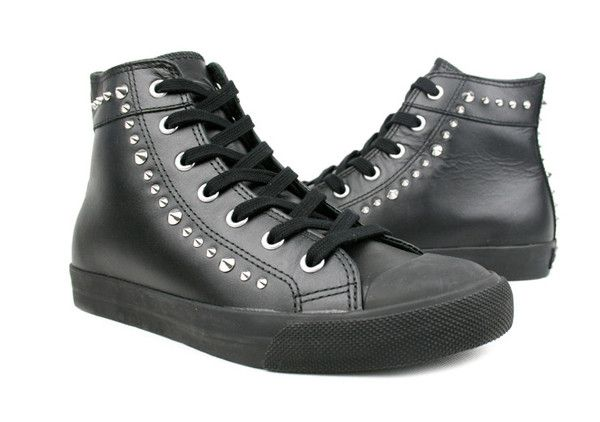 Burnetie full leather high top sneakers #sneakers #canada #fashion #style #burnetie