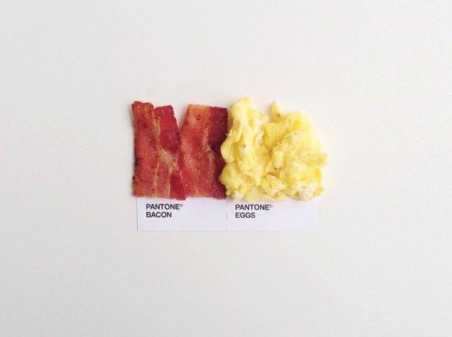 #akatoa #pantone #bacon #egg #americanfood  Artist : David Schwen