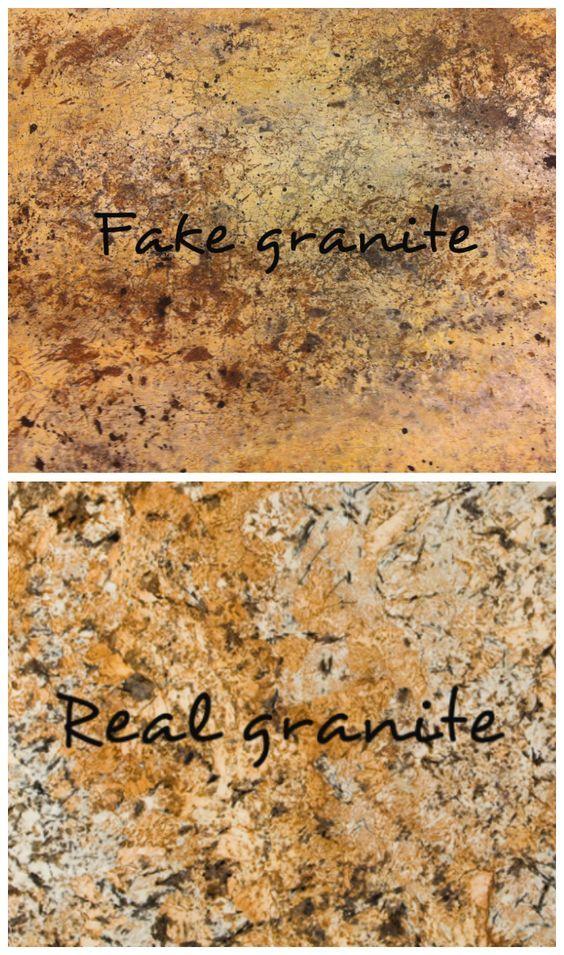 Wow!  DIY faux granite countertops that look like the real thing! #fauxgranite #paintedgranite #paintedcountertops