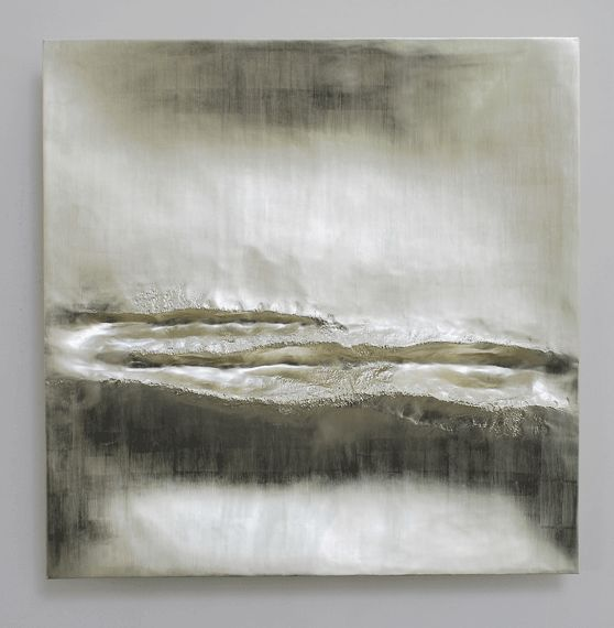 Beaux Arts Gallery - Luke Frost and Simon Allen  Simon Allen   Atlantic III   12 ct White Gold on Carved Wood   85cm Sq (33.5 inches)