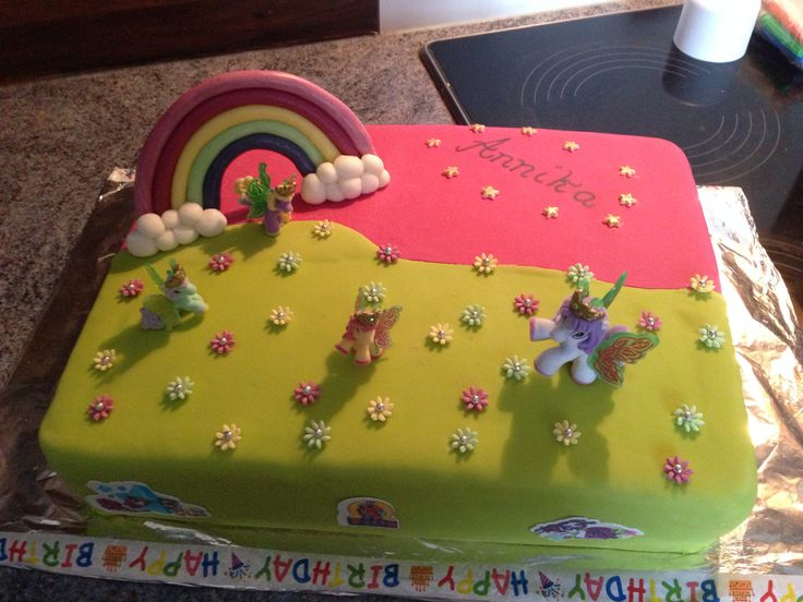 Filly rainbow cake