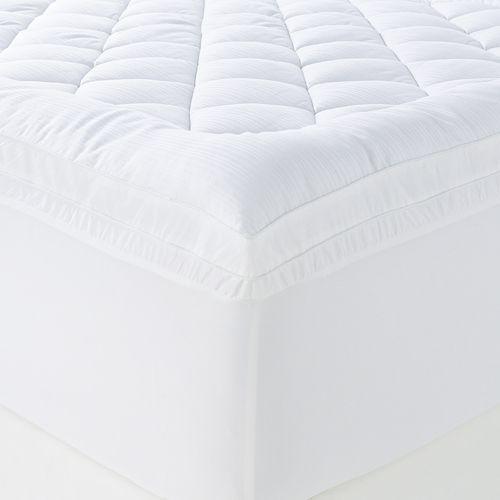 chaps home luxury comfort deep pocket pillow top mattress pad queen