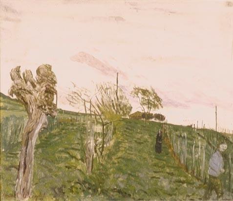 Carel Weight. 'Landscape'. Oil on cardboard. Date unknown.