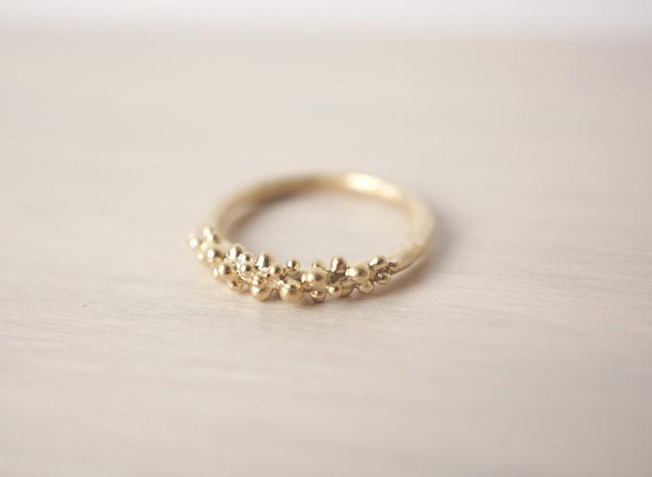 Gold Baubles Ring. $10.00, via Etsy.