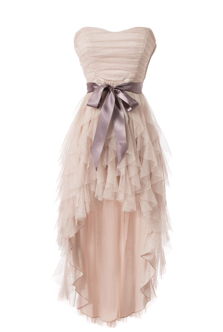 Front view of Teeze Me In Your Dreams High-Low Dress - Champagne