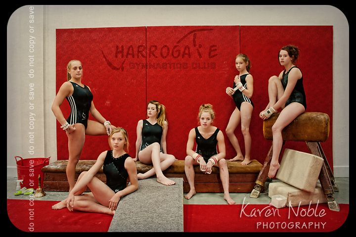 The Senior Gymnasts at Harrogate Gymnastics Club, Harrogate, North Yorkshire, England.  September 2012.  Photo by:  Karen Noble Photography