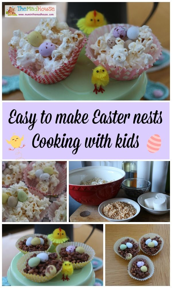 Easy to make easter nests great for cooking with kids and for getting your kids in the kitchen
