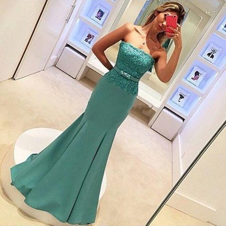 Ulass Sexy Womens Long Lace Elegant Mermaid Prom Dresses 2016 ballkleider galajurken vestidos de baile