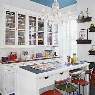 Craft Room   Beautiful Storage   Love All The Covered Storage...cuts Down Part 66