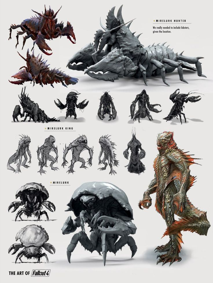 Image result for art of fallout 4 water creatures