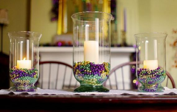 mardi gras candle decorations decorating ideas pinterest gold
