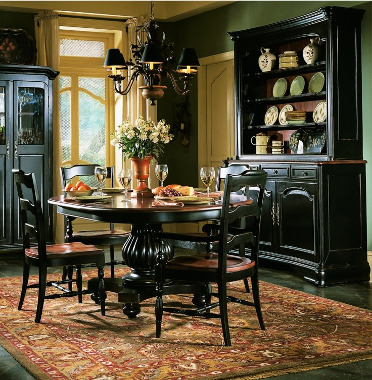 Emejing Black Country Dining Room Sets Contemporary House