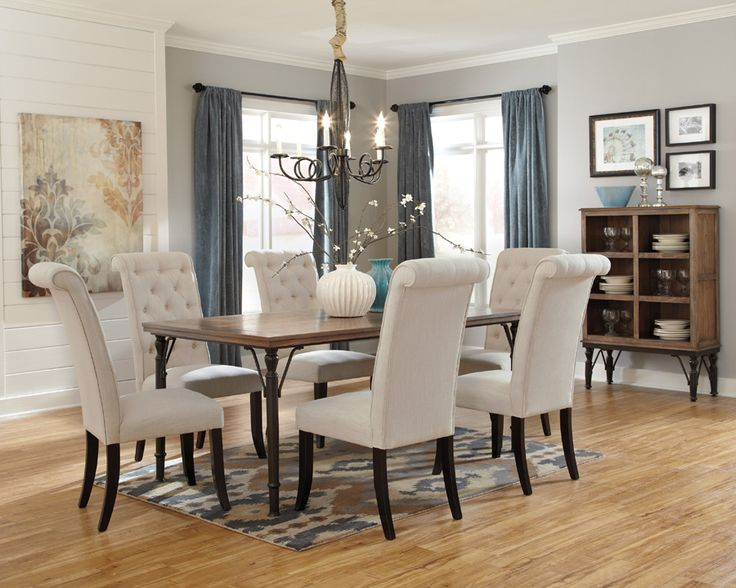 The Tripton Collection Pictured W 6 Chairs Matching Server Dining Room TablesBrown